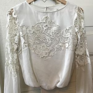 Alice and Olivia Lace Long Sleeve